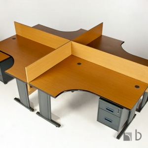 4-Way-Galaxy-pod-Desk-Complete-with-3-drawer-mobile-and-screen-partitioning-..Harare-Zimbabwe